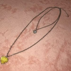 Aeropostale Layered Heart Necklace